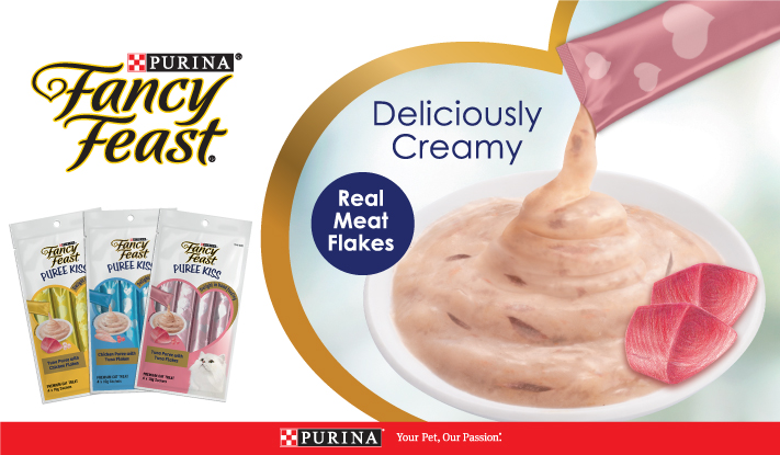 Deliciously creamy treats with real meat flakes!