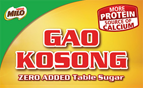 All-new MILO® Gao Kosong, with no added table sugar