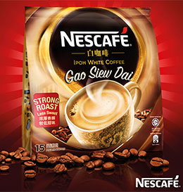 New NESCAFE® Ipoh White Coffee Gao Siew Dai – Strong Roast, Less Sweet!