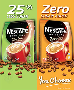 Taste the New NESCAFE® 25% Less Sugar & NESCAFE Zero Sugar* added today!