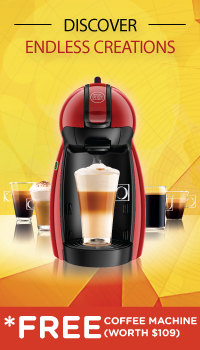 REDEEM A FREE PICCOLO COFFEE MACHINE!