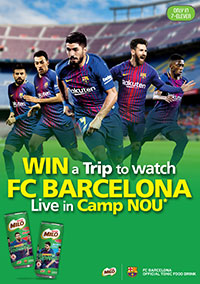 Win a trip to watch FC Barcelona live in Camp Nou