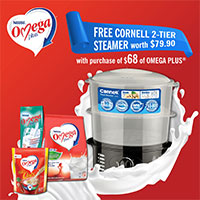 Would FREE CORNELL 2-Tier Steamer with purchase of $68 of OMEGA PLUS®