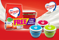 Get a FREE 2-tier Food Warmer with every purchase of Omega Plus Acticol 1kg!