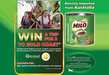 Win a trip to Gold Coast with MILO from Australia!