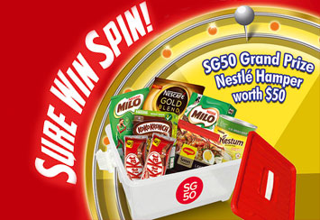 GREAT SG50 SAVINGS – SURE WIN SPIN!