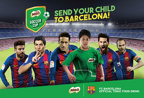 The inaugural MILO Soccer Cup is here! Stand a chance to send your child to Barcelona to train at the FCBEscola soccer school