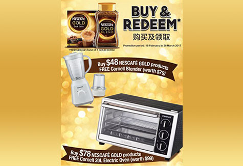 Buy and Redeem with NESCAFÉ GOLD!