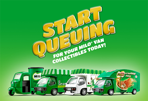 Start queueing for your MILO<sup>®</sup> Van collectibles today!