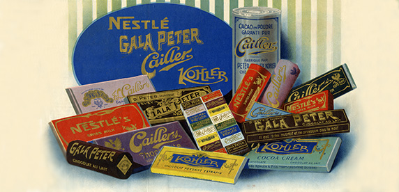 advertising by chocolate company Peter-Cailler-Kohler