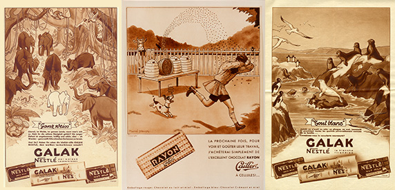 chocolate advertising posters