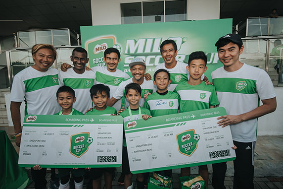 Inaugural MILO<sup>®</sup> Soccer Cup realizes sporting dreams of Singapore's young talent